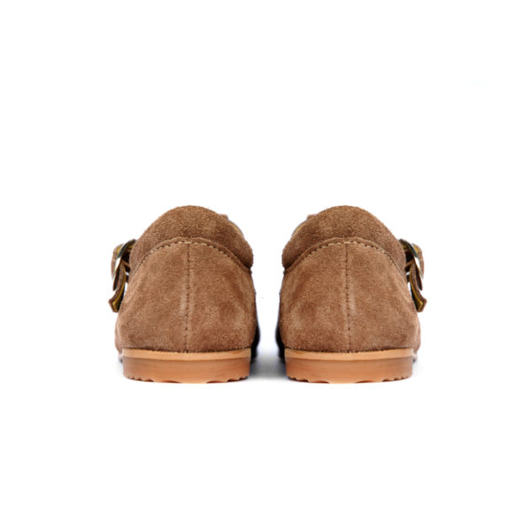 Sandálias Inglesas Pé de Pato Camurça Caqui