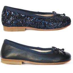 Sabrinas Azul Escuro Glitter e Lisa